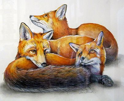 Emma Skurnick Three Foxes fine art NC Joyful Jewel