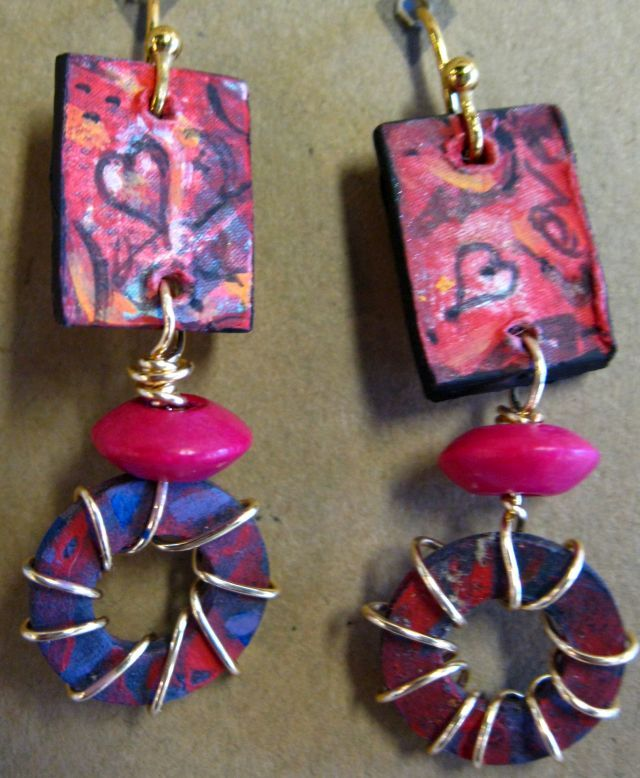 Laura Seymore, heart earrings, Joyful Jewel